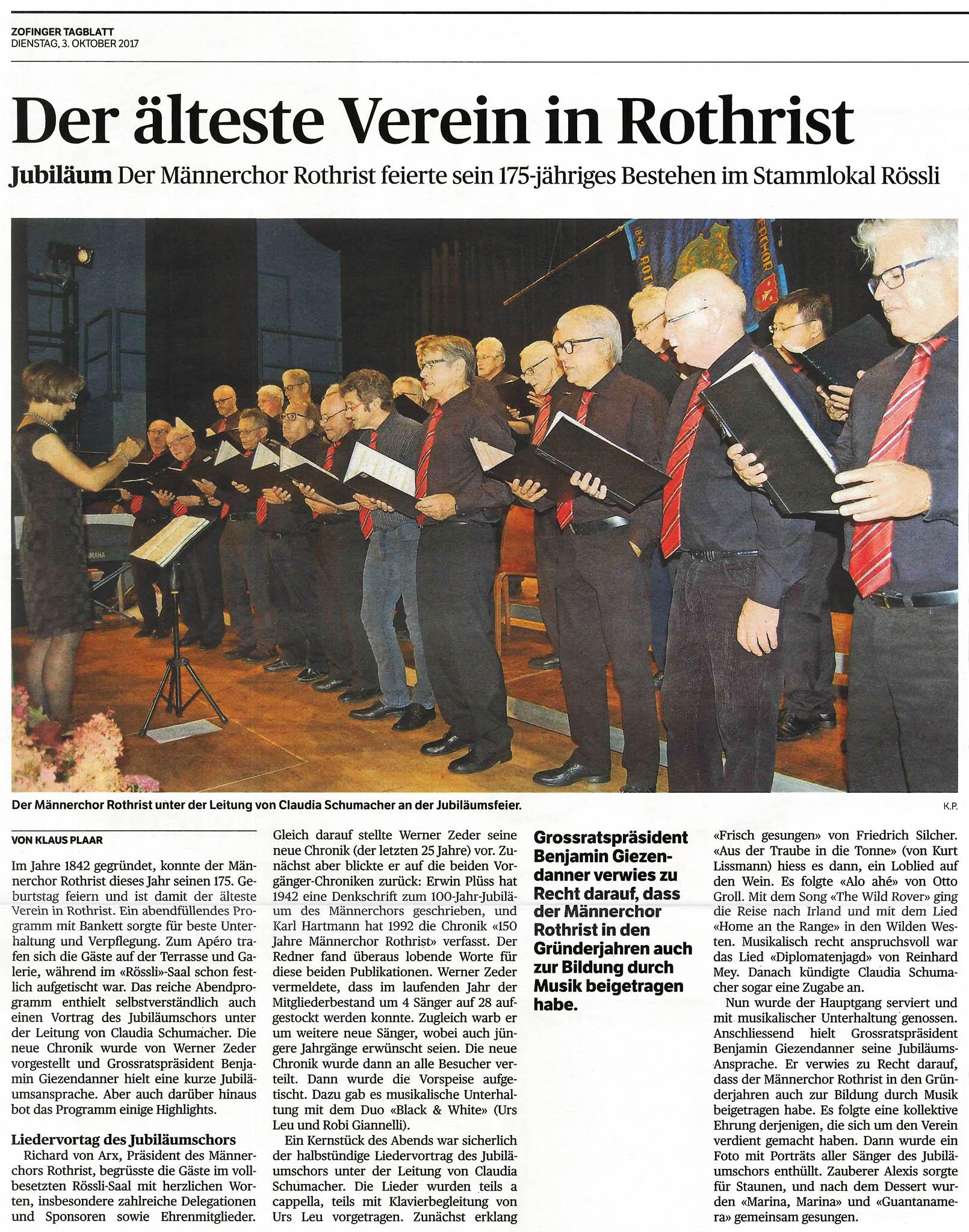 Bericht Jubiläumsfeier